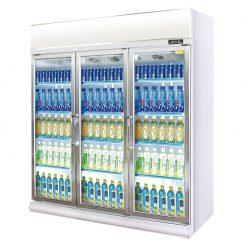 機後型平頂風冷鋁合金對開門展示櫃 LG4‑1500FC‑3